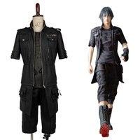 2017 Hot Sprzedaż Final Fantasy XV Noctis Lucis Caelum Cosplay kostium FF15 Czarna Kurtka Garnitur Mężczyzna Kobieta Adult Outfit Wszelkie rozmiar