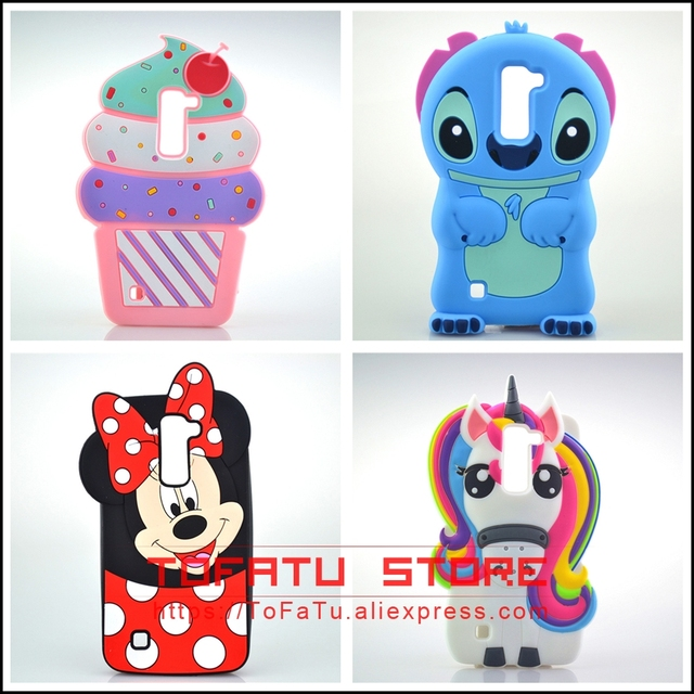 quality design c2f6c d39c3 US $2.99  For LG K8 Case Minnie Stitch Rabbit Unicorn Ice Cream Cell Phone  Cases Covers Silicone Phone Case For LG K8 LTE K350E K350N-in Fitted Cases  ...