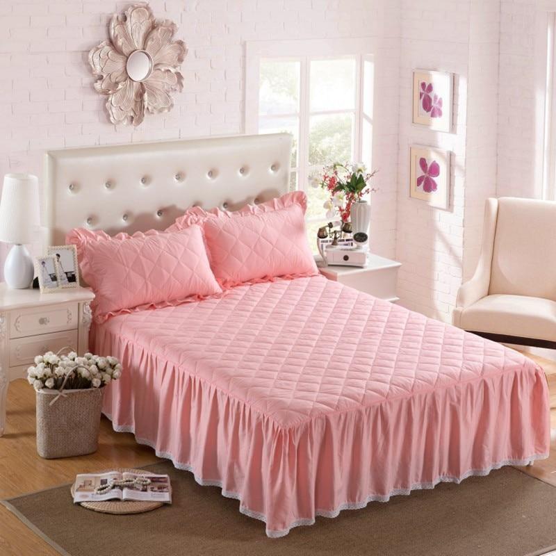 سميكة الشتاء مبطن تنورة السرير 100٪ ٪ - منسوجات منزلية