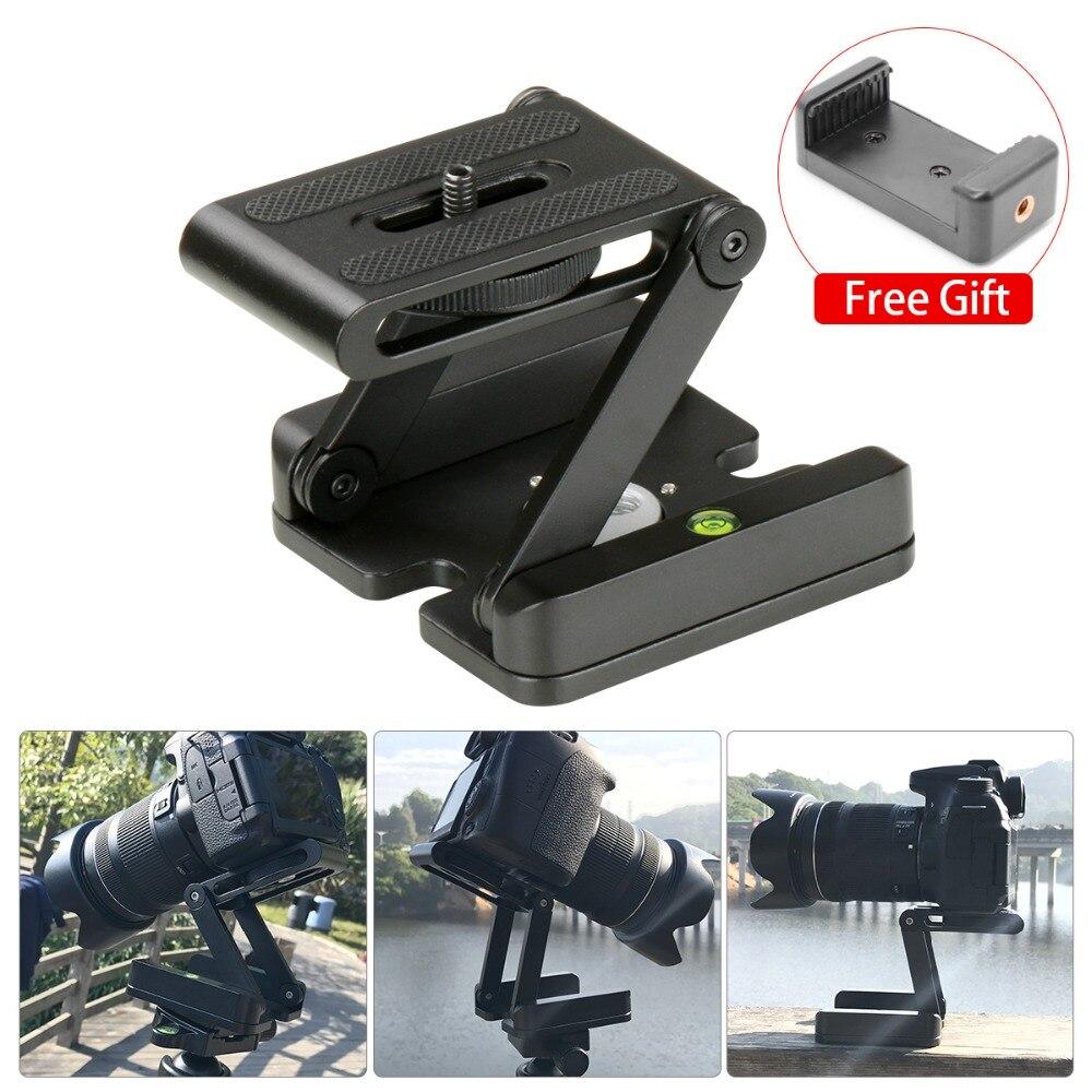 лучшая цена 2.5KG Load Foldable Z Pan Tilt Folding Z Tripod Bracket Head Flex Photography Studio Tripod Ballhead for Nikon Canon Smartphone
