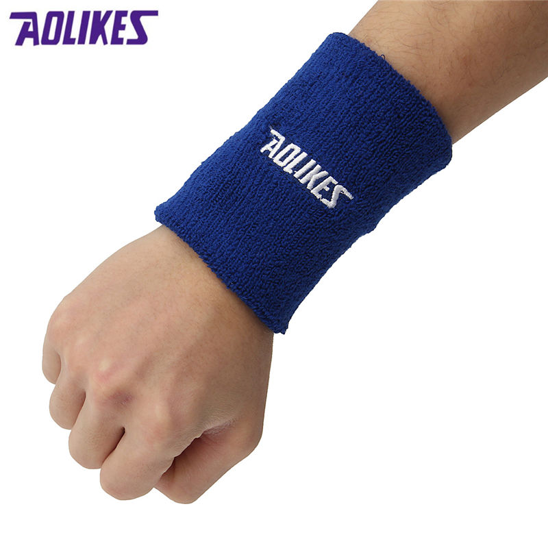 Basketball Sweat Towels: AOLIKES 1PCS 11x8cm Towel Sweat Absorbent Wristband For