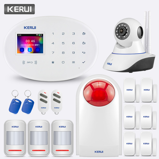 KERUI 433MHZ W20 touch screen Wireless Home Security Alarm System Alarm Kit Support Chinese English Russian West German Italian