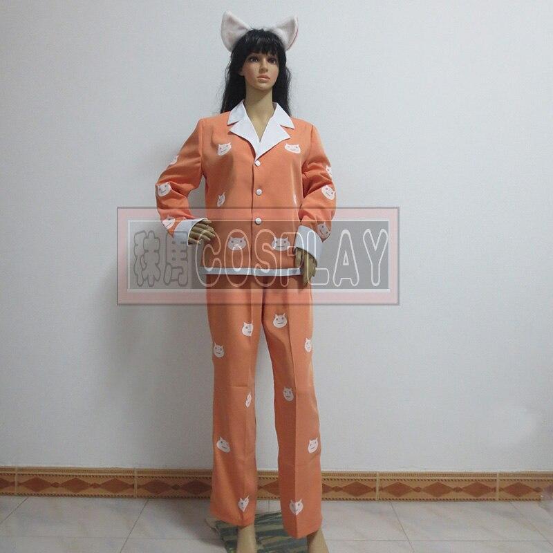 Bakemonogatari Black Hanekawa Tsubasa Pajamas Cosplay Costumes Any Size
