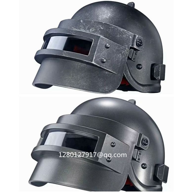 Aggressive Playerunknown S Battlegrounds Hero Three Level Helmet Cosplay 1/1 Pvc Action Figure Collectible Model Toy Box Q375 An Enriches And Nutrient For The Liver And Kidney life Size