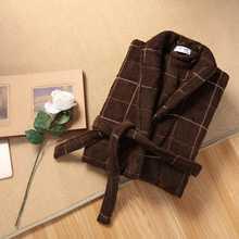 Autumn Winter Men Bathrobe Thick Cotton Robe Sleepwear Plus Size XXL Kimono Robe Blue Bathrobes Male Warm Long Sleeve Lounge - DISCOUNT ITEM  31% OFF All Category