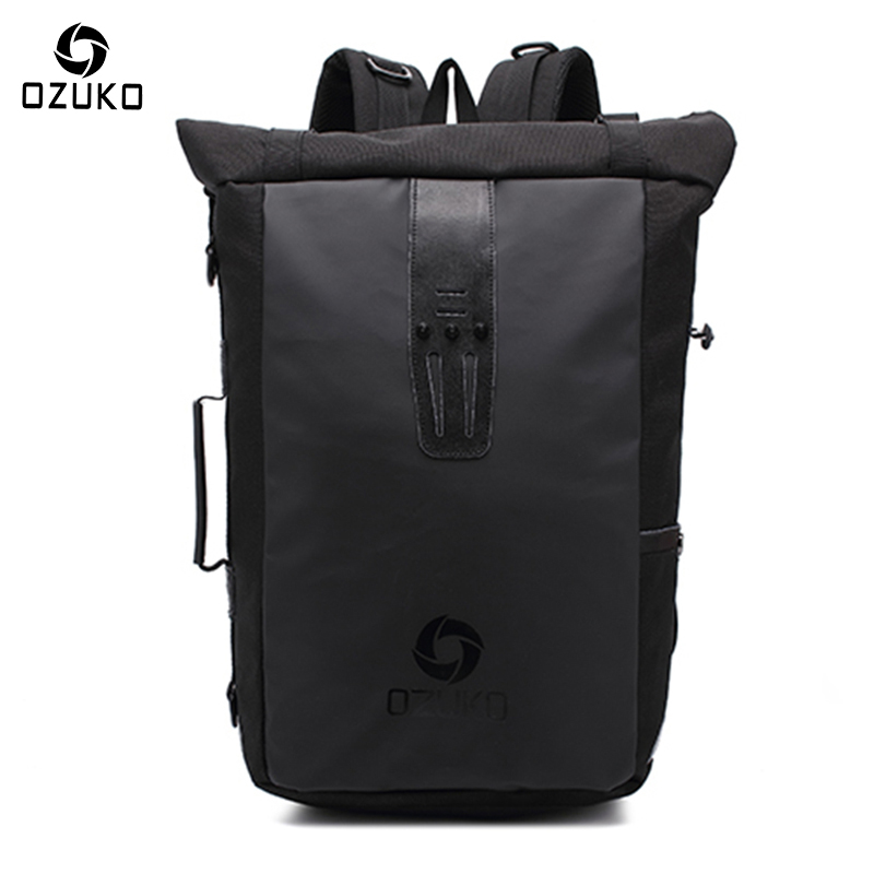 Ozuko New Multi-functional Casual Men Backpacks Travel Mochila Shoulder Bag Creative Male Waterproof Laptop Backpack School Bags casual men genuine leather backpacks male large capacity shoulder travel bag daypack student laptop backpack school bags mochila