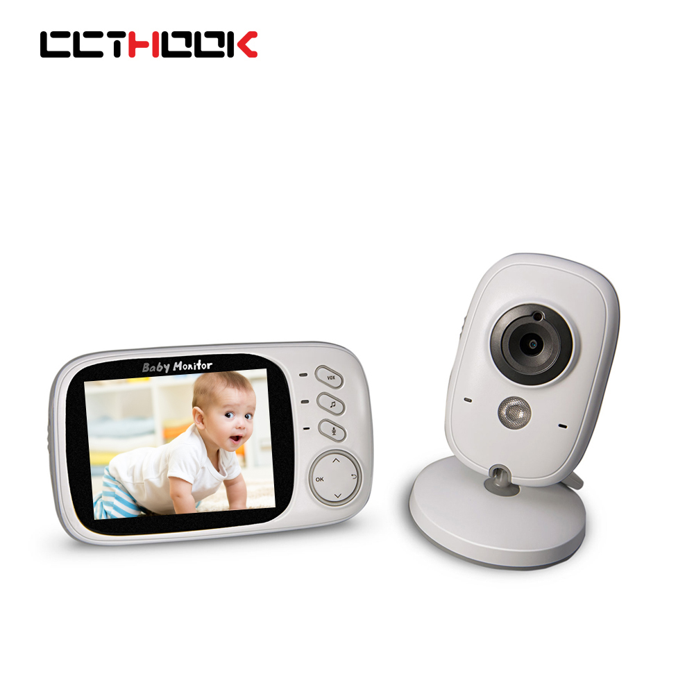 CCTHOOK Video Baby Monitor 2.4G Wireless with 2.4 Inches LCD 2 Way Audio Talk Night Vision Surveillance Security Camera