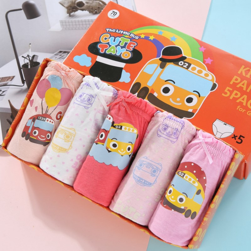 Fashion Girls Underwear Cotton Panties For Girl High Quality Cartoon Cars Kids Briefs For Girls Children Underpants 5pcs/pack