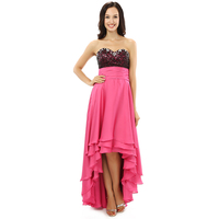 Sexy High Low Coral Prom Dresses 2018 Summer Lady Sweetheart Sleeveless Party Gown Plus Size Vestido De Festa