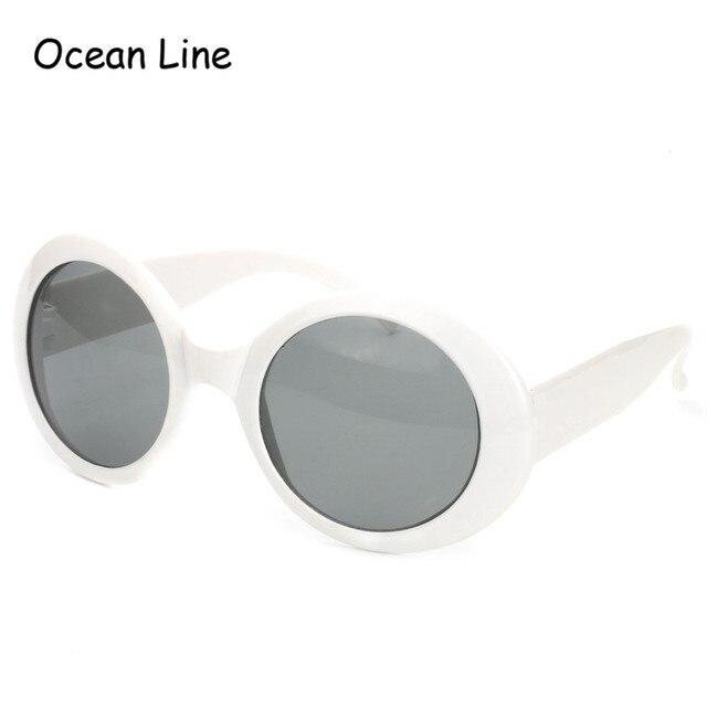 2017 Do Vintage Da Moda Kurt Cobain Quadro Branco Óculos De Sol Óculos de  Lentes Escuras 18dd0c2733