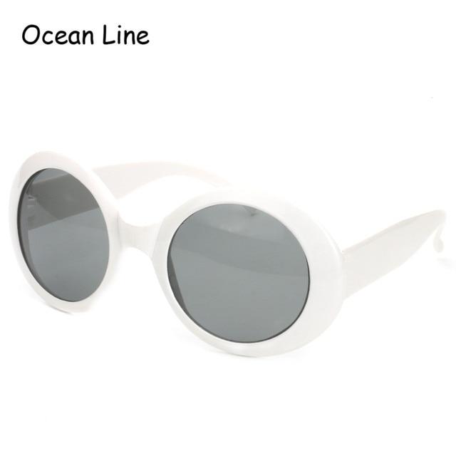 124be6f352b 2017 Fashion Vintage Kurt Cobain White Frame Sunglasses Costume Glasses  Dark Lens Fancy Dress Gifts Party Supplies Decoration