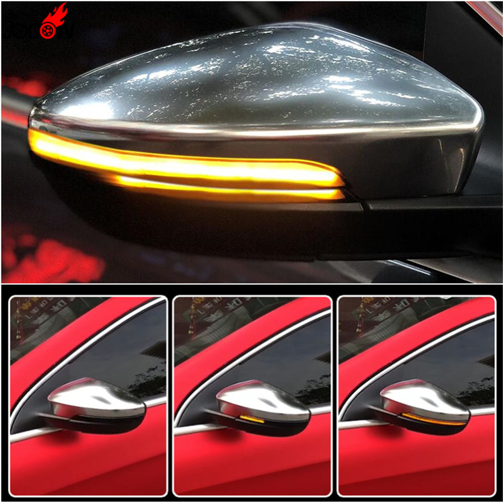 LED Side Wing Rearview Mirror Indicator Blinker Repeater Turn Signal Light For VW Passat B7 CC Scirocco Jetta MK6 EOS Beetle chromesupply mazda 2 demio chrome side mirror cover with led side blinker trim