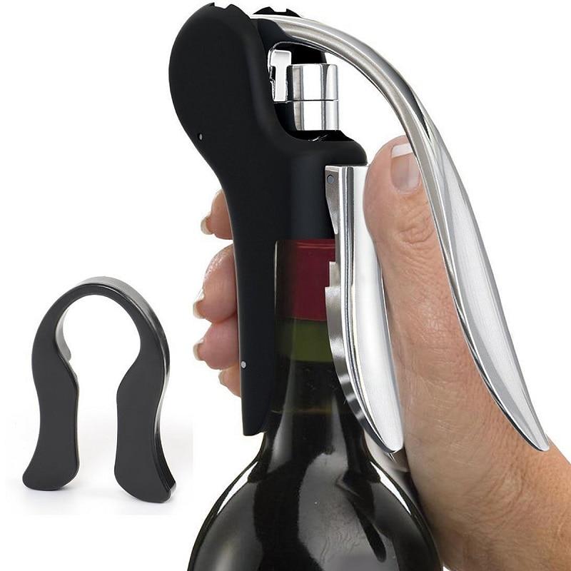 1 pc New Wine Tool Set Wine Opener Bar Lever Corkscrew Convenient Bottle Openers Foil Cutter Cork Tire Drill Lifter Kit VHF10T50