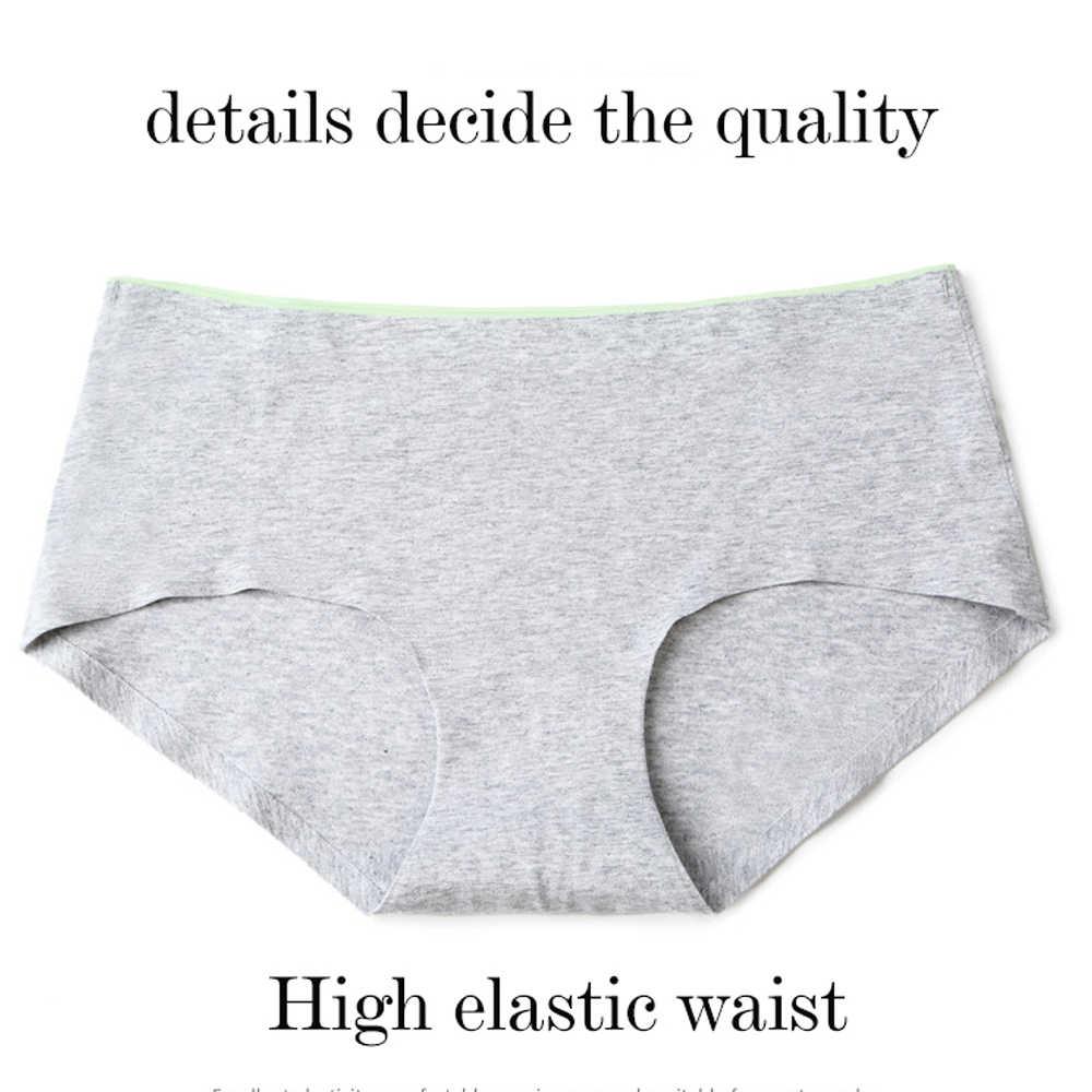 2018 slips culottes pour femmes coton sans couture culottes femme mi-hauteur Sexy lingerie femmes sans couture culottes fille shorts culotte