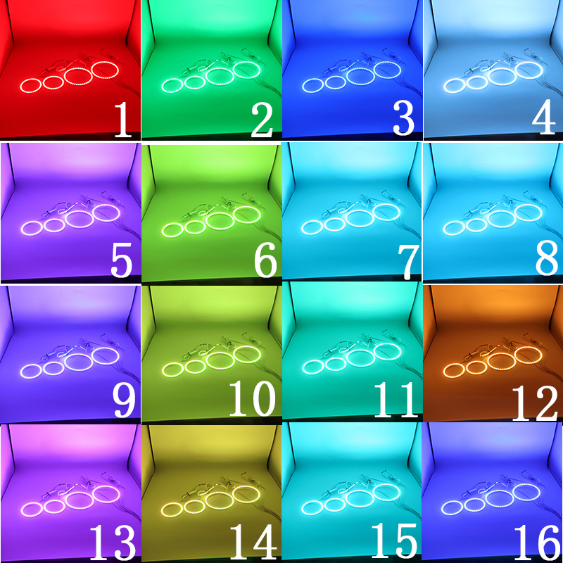 2009 acessorios farol multi cor rgb led 05