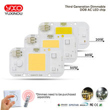 YXO YUXINOU DOB LED COB Chip 50W 40W 30W 20W 10W AC 220V No need driver Smart IC bulb lamp For DIY LED Floodlight Spotlight(China)