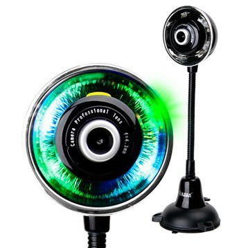 2014 Web Camera [drop Shipping] free Shipping T920 Colorful Dazzle Backlight Webcam Hd with Microphone Noctovision 301000008