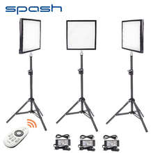 spash FL-3030 LED Video Light 3 in 1 Kit Photography Lighting + Tripod 256 LEDs 5500K CRI 90 LED Panel Fill Light Remote Control