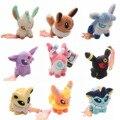 Venta CALIENTE Pokemon Eevee Family Juguetes De Peluche Lindo Espeon Umbreon Vaporeon Flareon Glaceon Solf Felpa Muñeca Juguetes para niños regalos