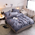 BEST.WENSD dekbedovertrek' bedcover set comfortable Bedding Queen king Size 3/4pcs bedclothes Jacquard Duvet Cover set Bedspread