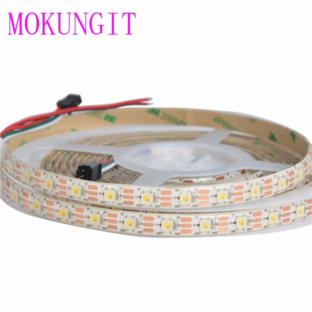 20M 4X5M SK6812 WWA(Warm white/Cool white/Amber) 30 60 74 96 LEDs/Pixels/m 3 in 1 5050 SMD led strip programmable Addressable