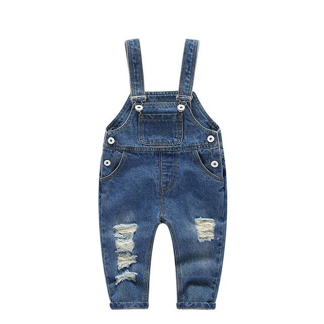 2018 Spring Children Tracksuits Overalls Jeans for Girls Children Broken Hole Pants Kids Denim Long Trousers Casual Sport Pants