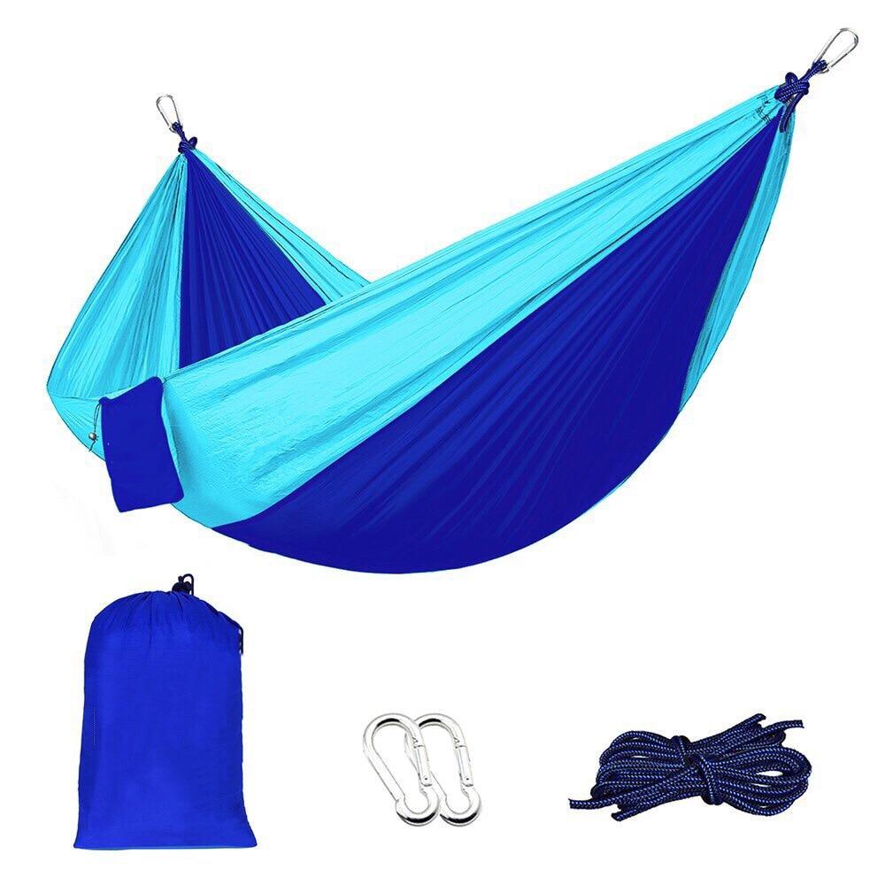 Outdoor parachute cloth double hammock 300kg max loading garden camping sleeping bed hammocks 270*140cm furniture army green hammock 260 140cm outdoor furniture loading 300kg