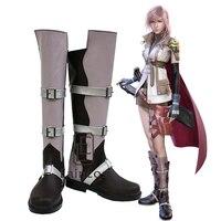 Hot Game Final Fantasy XIII Relâmpago Cosplay Shoes Botas Extravagantes Tamanho Personalizado