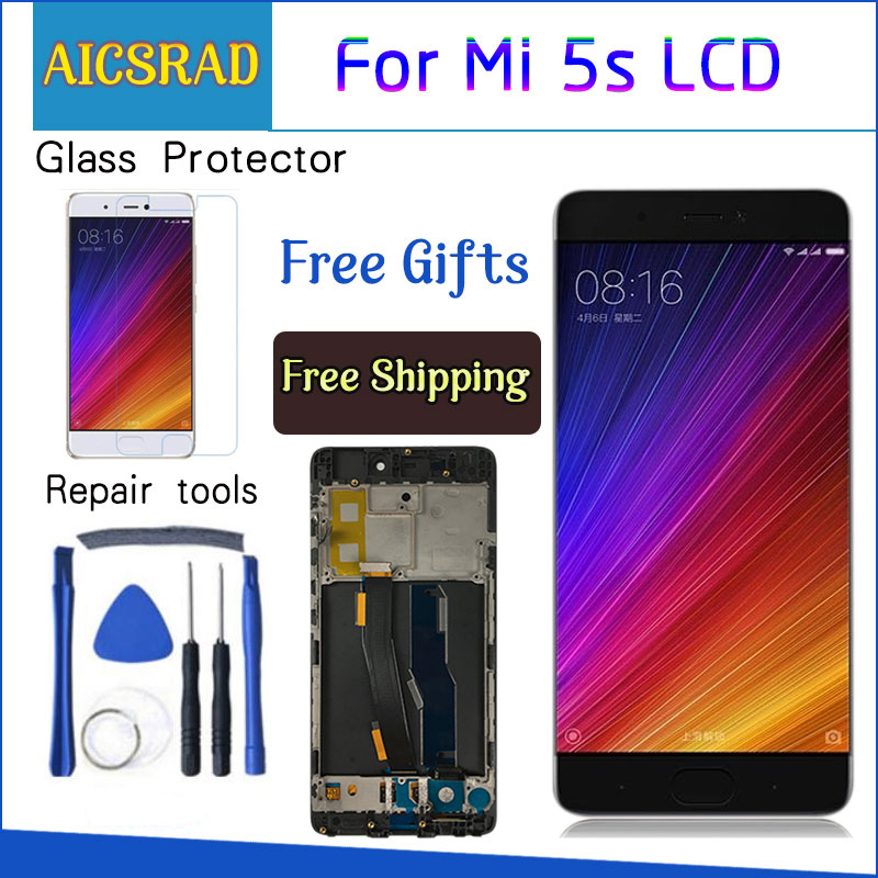 AICSRAD New LCD <font><b>Display</b></font> For <font><b>Xiaomi</b></font> MI 5s <font><b>Mi5s</b></font> M5s Touch Screen Digitizer Assembly + Frame For <font><b>Xiaomi</b></font> <font><b>MI5s</b></font> 5.15