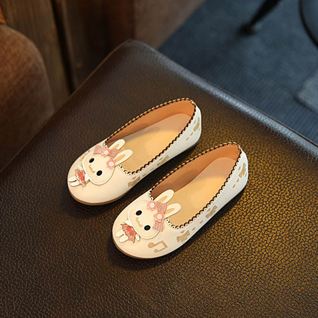 2017 Autumn Kids Girls Shoes With Rabbit Cartoon Children Ballet Flats Girls Toddlers Casual Shoes Princess Zapatos Enfant