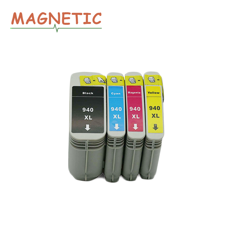 4x Magnetic Compatible ink cartridge For HP940 <font><b>940XL</b></font> C4906A C4907A C4908A C4909A For HP Officejet Pro 8000 8500 image