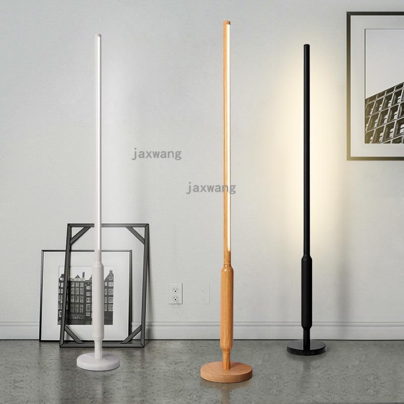Modern Floor Lights Standing Lamps For Living Room Loft: Nordic Led Floor Lamps For Living Room Dining Loft Wood