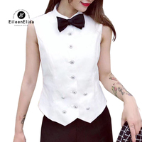 2019 Fashion Womens Tops and Blouse Spring Summer Sleeveless Blouse Shirt Female White Vest Casual