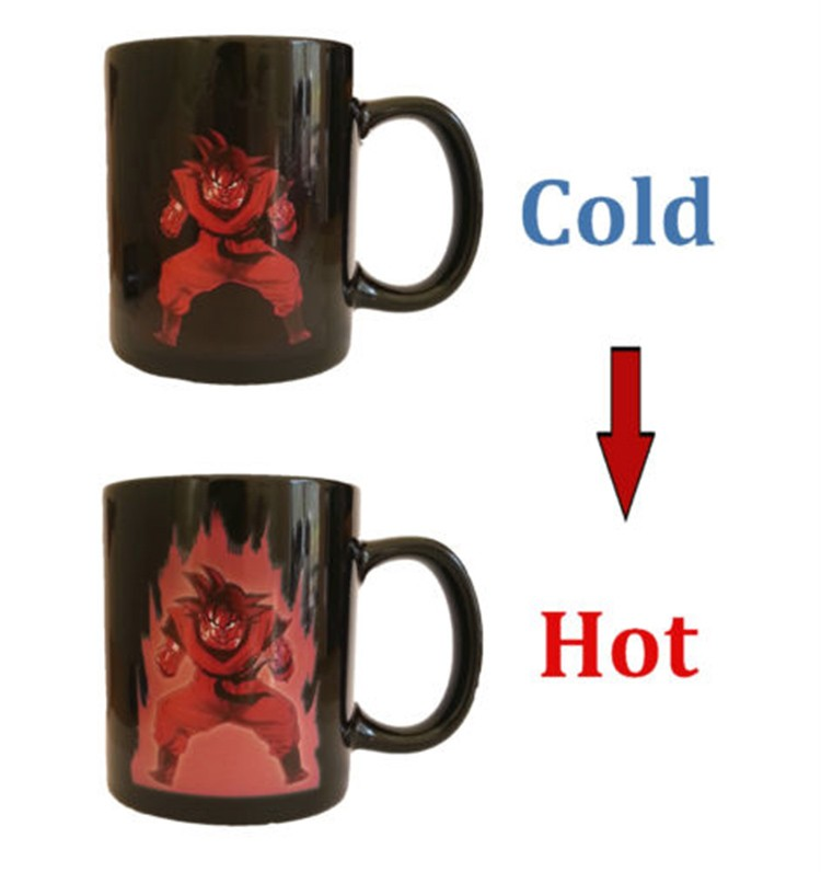 HOT SALL The Factory Wholesale Dragon Ball Z Vegeta Changing Coffee Mug Heat sensitive Reactive Ceramic