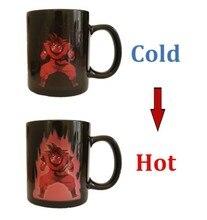 HEIßE SALL Die Fabrik Großhandel Dragon Ball Z Vegeta Ändern Kaffeetasse wärmeempfindlichen Reaktiven Keramik Magic Becher