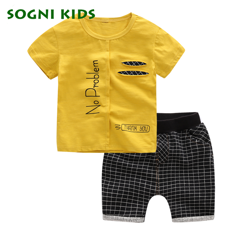 2017 Boys Sports Clothes for Summer Casual Cool Outfit Children Toddler Clothing Boy Set Cotton t shirt shorts pants for Sales