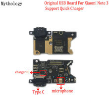 цена на Mythology Original For Xiaomi Note 3 USB Board Flex Cable Dock Connector Microphone Mobile Phone IC Support Quick Charger