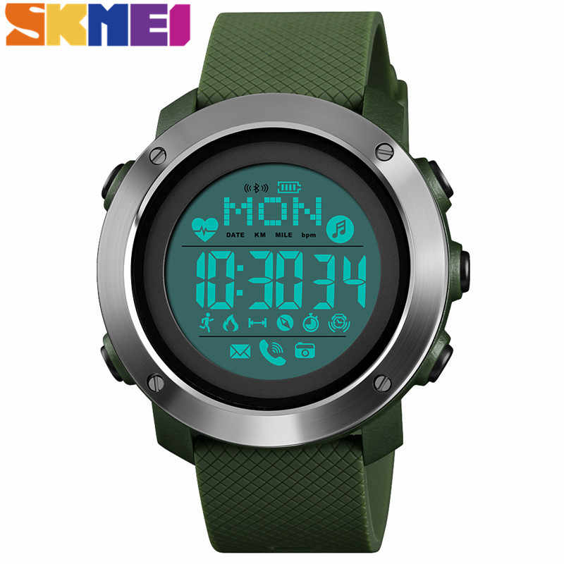 SKMEI Smart Sport Watch Men Women Heart Rate Calories Fitness Multifunction Watch 5Bar Waterproof Outdoor Wristwatches 1511 1512