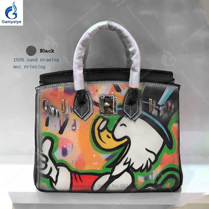 Gamystye High Quality Pattern Duck Women Leather Handbags Female Crossbody Shoulder Bags Ladies Messenger Handbags Bolsos Mujer