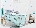 Nordic Style Cartoon Combed Cotton Three - pisece Baby Bedding Active Printing Dyeing Kids Like Comfort Products 1 PCS