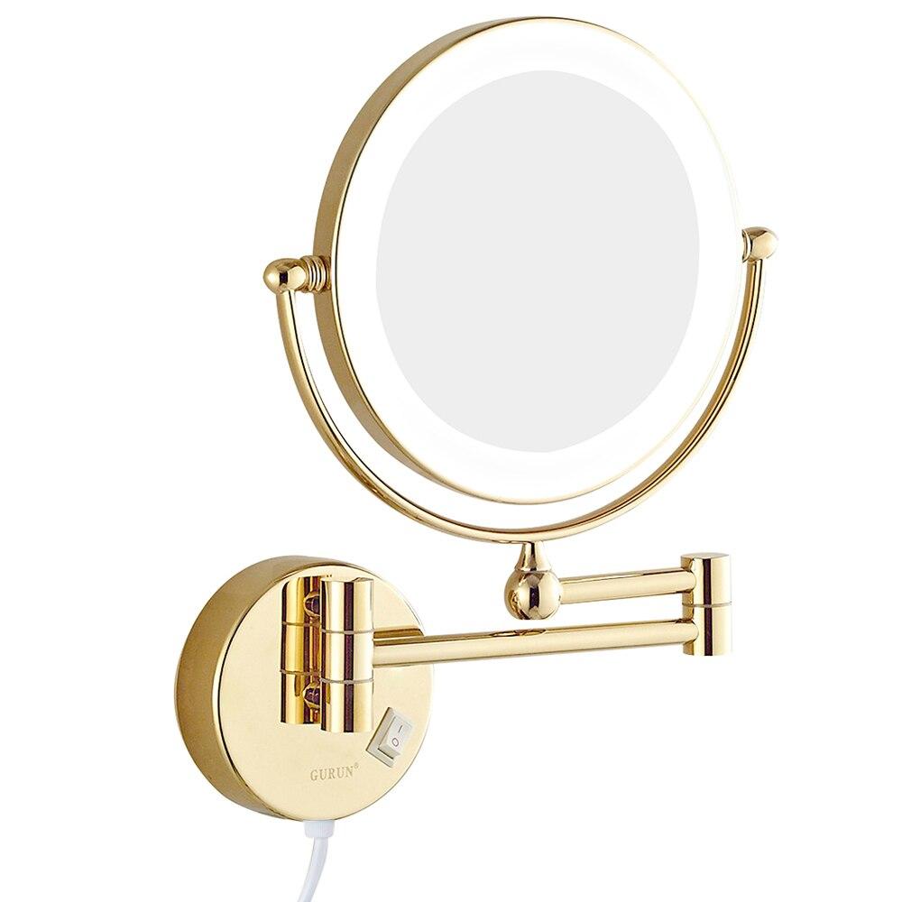 GuRun wandmontage badkamer make-upspiegels met led-verlichting en 7x - Huidverzorgingstools - Foto 2