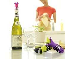 1PC New Silicone Lily Bottle Stopper Leakproof Wine Pourer Kitchen Party Cork Anti Spill LB 451