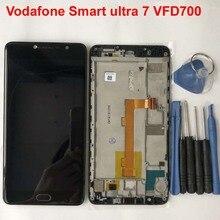 Für Alcatel Vodafone Smart ultra 7 VFD700 LCD Display + Touch Screen Digitizer Montage Mit Rahmen für Vodafone ultra7 vf700 700