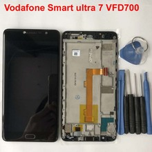 For Alcatel Vodafone Smart ultra 7 VFD700 LCD Display+Touch Screen Digitizer Assembly With Frame for Vodafone ultra7 vf700 700