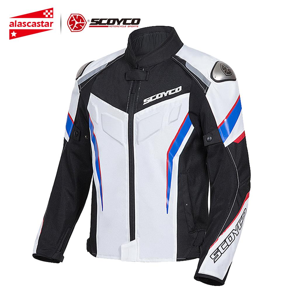 SCOYCO Motorcycle Jacket Protective Gear Reflective Summer Motocross Breathable Chaqueta Moto Jacket Motorcycle Protection