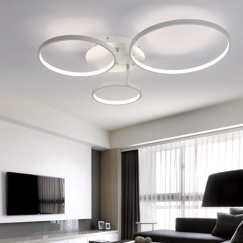 New Arrival Circle rings designer Modern led ceiling lights lamp for living room bedroom Remote control