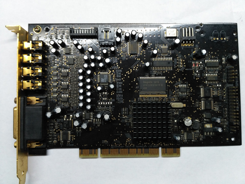 (Second hand )Original X-ray Fi Xtreme Music SB0460 sound card 7.1 soundcard DTS decoding, gold-plated HIFI enthusiast necessary