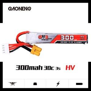 Image 2 - 2PCS Gaoneng GNB 300mAh 3S 11.4V 30C/60C HV Lipo battery XT30 Plug for FullSpeed TinyLeader whoop3S Drone RC FPV Drone parts