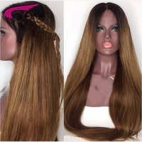 Carina Silk Straight Lace Front Human Hair Wigs With Baby Hair Middle Deep Parting 13x6 Remy Hair Lace Front Wig Pre Plucked