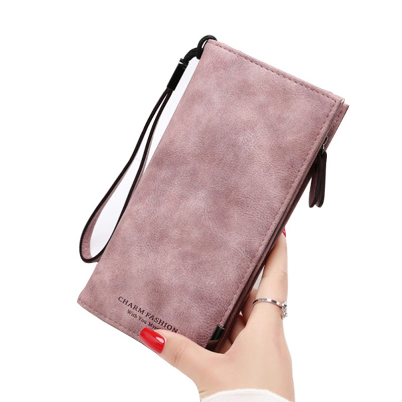 2018 NEW wallet Women Long Coin pocket purse high quality Buckle phone holder purses ZIP Toggle Simple Clutch bag Student Wallet brand double layer zipper wallet phone bag purses women money bag high quality waterproof nylon clutches coin pocket
